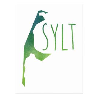 Sylt Map Postcard
