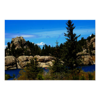 Sylvan Lake Custer state park poster