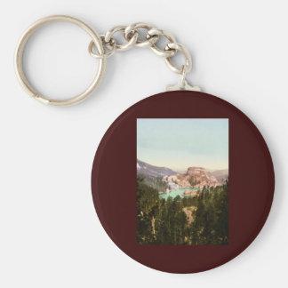 Sylvan Lake South Dakota Basic Round Button Keychain