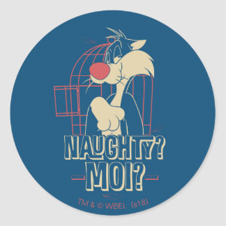 SYLVESTER™- Naughty? Moi? Classic Round Sticker