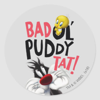 SYLVESTER™ & TWEETY™- Bad Ol' Puddy Tat Classic Round Sticker