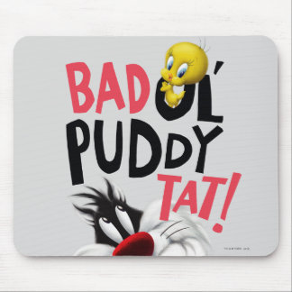 SYLVESTER™ & TWEETY™- Bad Ol' Puddy Tat Mouse Pad