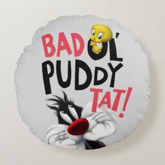 SYLVESTER™ & TWEETY™- Bad Ol' Puddy Tat Round Pillow