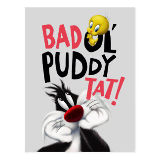 SYLVESTER™ & TWEETY™- Mean Ol' Puddy Tat Postcard