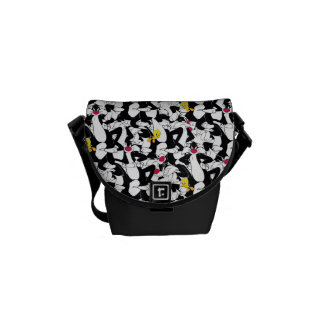 SYLVESTER™ & TWEETY™ Pattern Messenger Bag