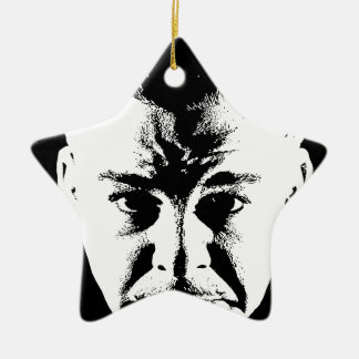 Sym Face original.jpg Ceramic Star Ornament