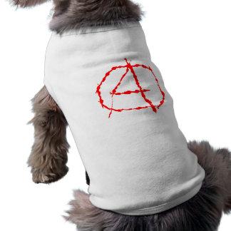 Symbol anarchy anarchy pet tee shirt