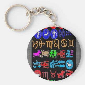 SYMBOL ART Elegant Zodiac Astrology Collection GIF Basic Round Button Keychain