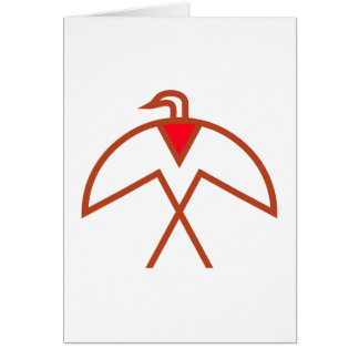 Symbol bird Indian bird native American Card