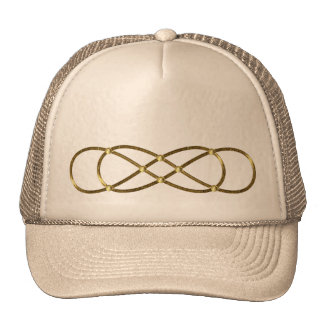Symbol double Infinity - Antique Gold Trucker Hat