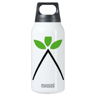 Symbol for ecological balance insulated water bottle