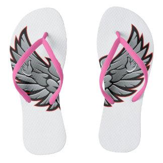 Symbol for gym and fitness flip flops