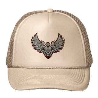 Symbol for gym and fitness trucker hat