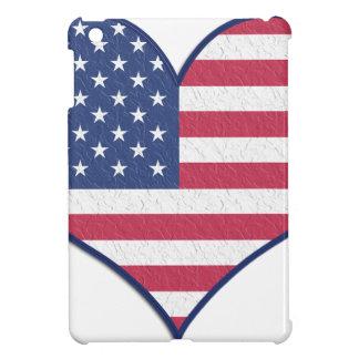 Symbol Heart Love Usa United States Flag Stars iPad Mini Cover