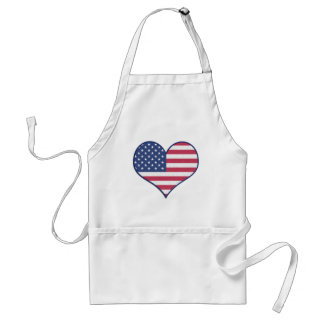 Symbol Heart Love Usa United States Flag Stars Standard Apron