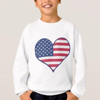 Symbol Heart Love Usa United States Flag Stars Sweatshirt