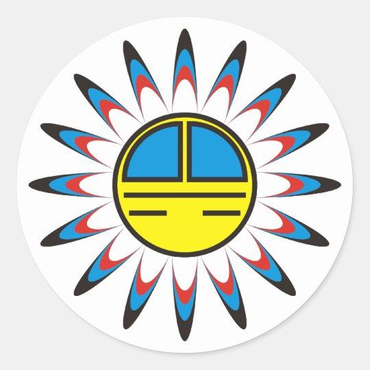 Symbol Indian Classic Round Sticker