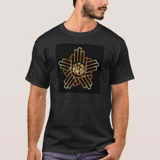 Symbol of Jainism in gold T-Shirt