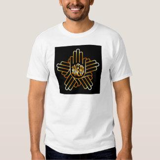 Symbol of Jainism in gold Tshirt