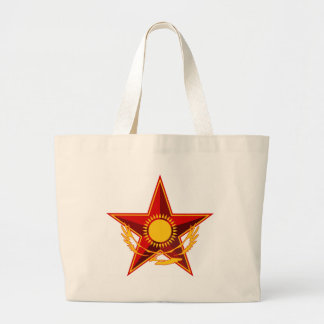 Symbol_of_the_Kazakh_Ministry_of_Defense Large Tote Bag