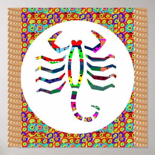 Symbol Scorpio Insect Stinger Zoo Wild Zodiac Gift Print