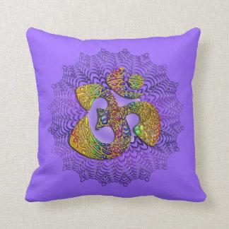 Symbol Universal OM / AUM - Ornament Throw Pillows