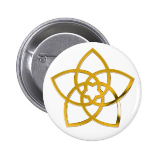 Symbol Venus Flower GOLD Pinback Button