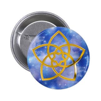 Symbol Venus Flower GOLD Pinback Buttons