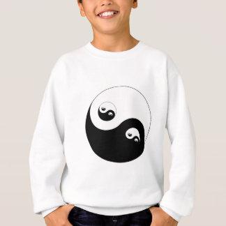 Symbol Yin Yang fraktal fractal Sweatshirt