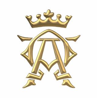"""Symbole """"à trois dimensions"""" d'or alpha et d'Omega Photo Sculpture"""