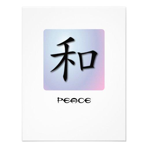 Symbole chinois d invitations pour la paix sur la