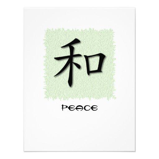 Symbole chinois d'invitations pour la paix sur le