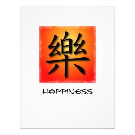 Symbole chinois d'invitations pour le bonheur sur
