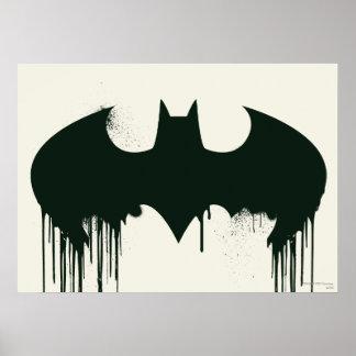 Symbole de batte - logo Spraypaint de Batman Poster