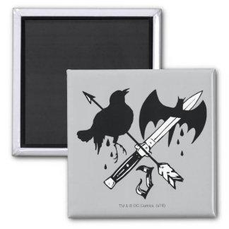 Symbole de joker du peloton | de suicide magnet carré