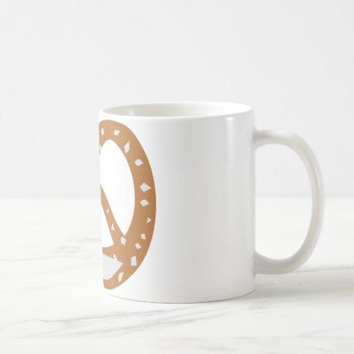 symbole de logo de boulangerie de bretzel de boula mug à café