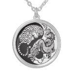 symbole de yang de yin de dragon et de tigre bijouterie fantaisie