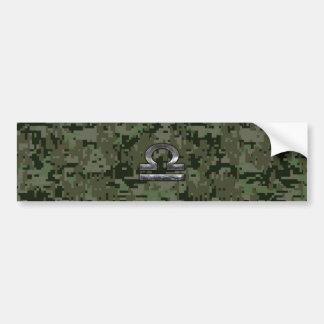 Symbole de zodiaque de Balance sur le camouflage Autocollant De Voiture