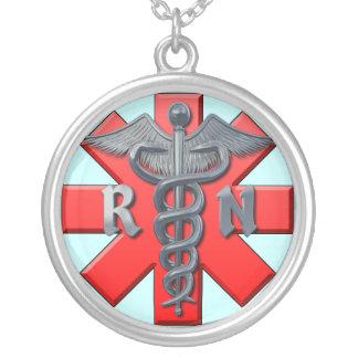 Symbole d'infirmier autorisé pendentif rond