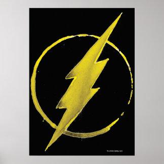 Symbole instantané de café - jaune poster