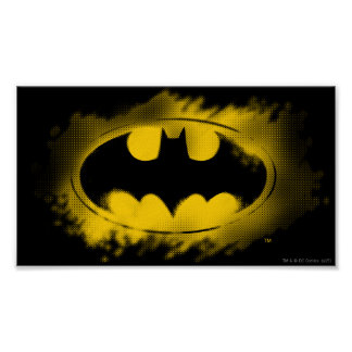 Symbole logo noir et jaune de | de Batman Poster