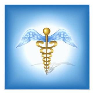 Symbole médical de caducée faire-part personnalisé