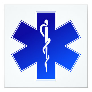 Symbole médical de SME Cartons D'invitation Personnalisés
