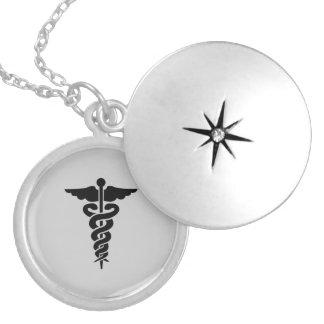 Symbole médical soignant médaillon rond