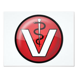 Symbole médical vétérinaire invitation personnalisée