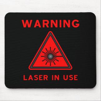 Symbole rouge Mousepad d'alerte laser Tapis De Souris