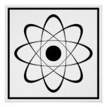 Symbole stylisé d'atome