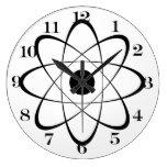 Symbole stylisé d'atome horloges