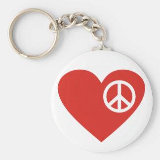Symbole symbole de paix coeur heart peace porte-clé
