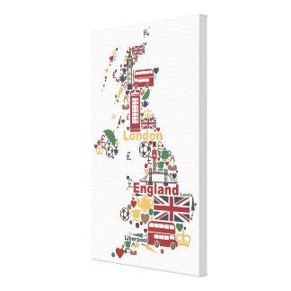 Symboles de carte de l'Angleterre Toiles